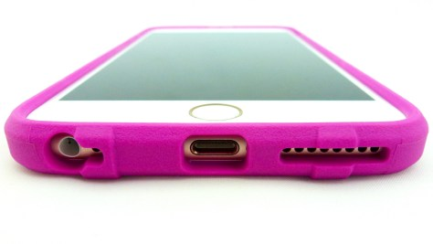 Magpul Field Case for iPhone 6s Plus in Pink- Port Opening and Lip View
