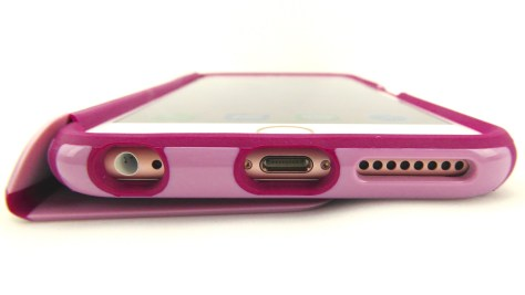 Speck CandyShell Wrap for iPhone 6s Plus- Bottom Port Opening View with Cover Folded Back