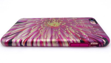 Speck CandyShell Inked Luxury Edition in Hypnotic Bloom and Fuchsia Pink- Back Side View