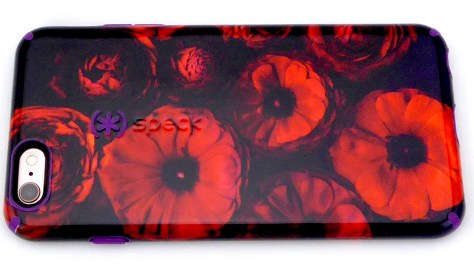 Speck CandyShell Inked for iPhone 6s Plus in Moody Bloom- Back View