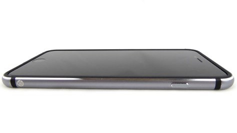 K11 Bumper in Black-Space Grey on Space Grey iPhone 6 Plus- Front Side View