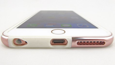 K11-Bumper-in-White-Rose-Gold-on-Rose-Gold-iPhone-6s-Plus--Front-Bottom-View