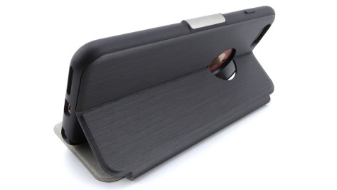 Moshi SenseCover for iPhone 6s Plus in Steel Black- Stand View--Back