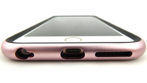Moshi iGlaze Luxe in Rose Pink for iPhone 6s Plus- Front Bottom View