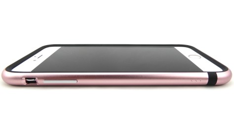 Moshi iGlaze Luxe in Rose Pink for iPhone 6s Plus- Front Side View