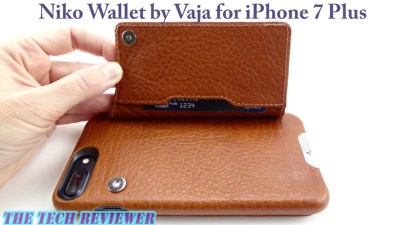 Luxury Leather Folio Case with Stealth Card Storage on the Back: Vaja Niko Wallet for iPhone 7 Plus!