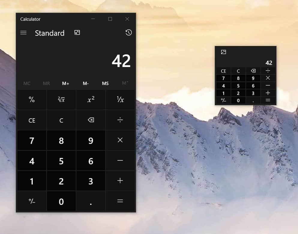 """الآلة الحاسبة لنظام Windows ستحصل أخيراً على ميزة """"Always-on-Top""""."""