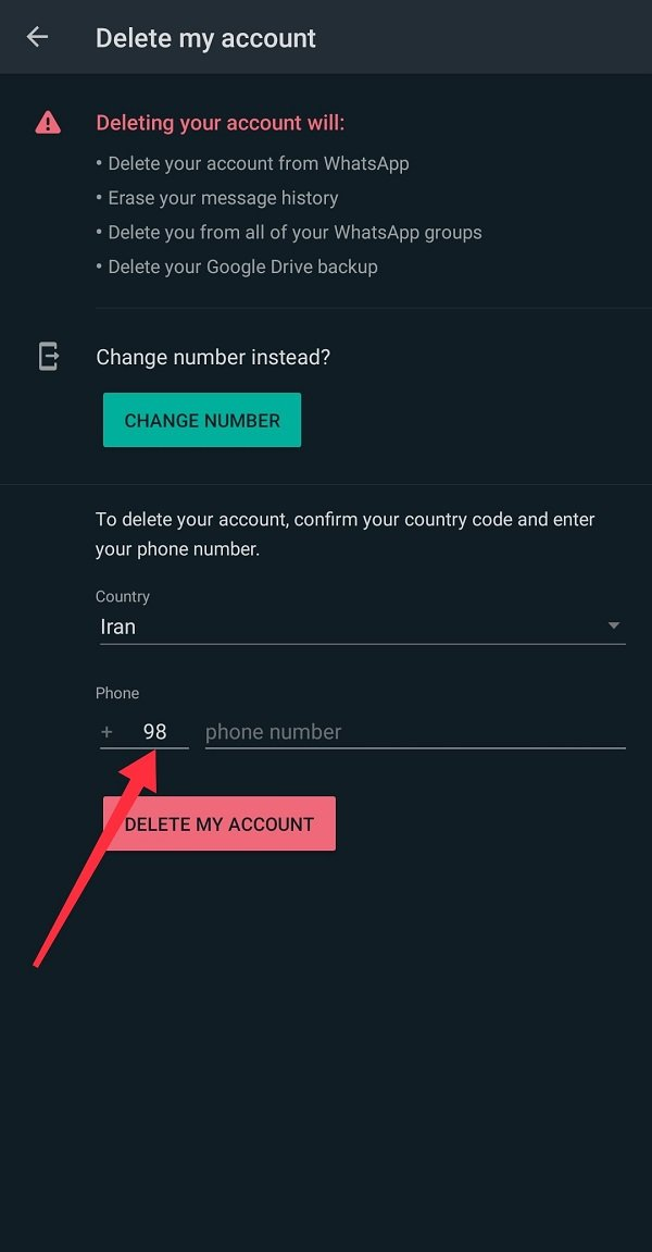 How to delete your WhatsApp account forever?