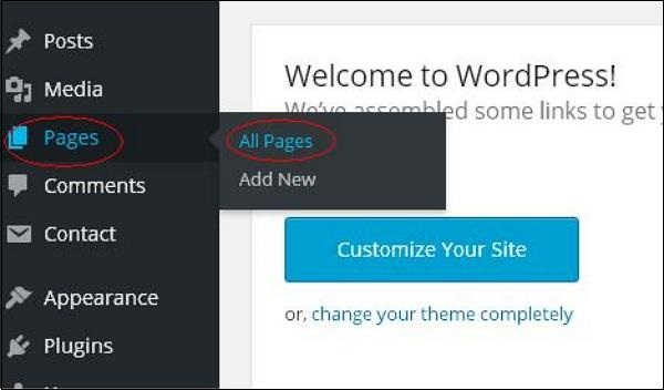 WordPress Delete Pages