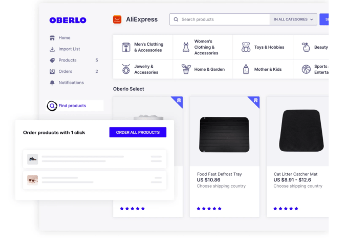 connect oberlo with shopify