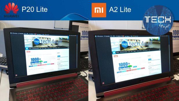 Camara dupla Huwaei P20 Lite vs Xiaomi Mi A2 Lite