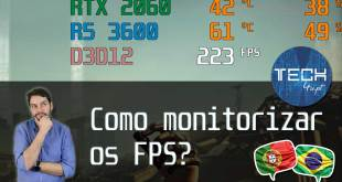 Como monitorizar fps do PC