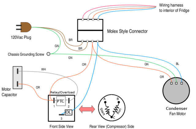 refrigerator start relay wiring diagram vav box getting your to run without a while you the works