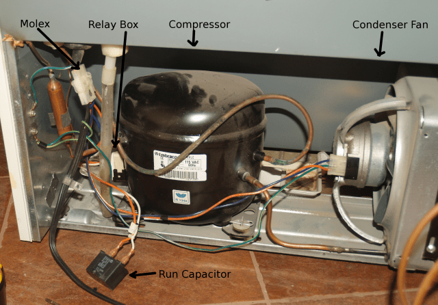 single phase capacitor start induction motor connection wiring diagram doerr getting your refrigerator to run without a relay while you diagnostics