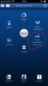 Dialog selfcare app data usage