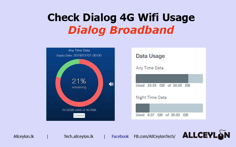 How to Check Dialog 4G Broadband wifi Data usage balance