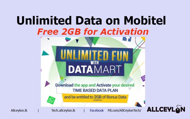 FREE 2GB Mobitel Data with DataMart +Unlimited Data