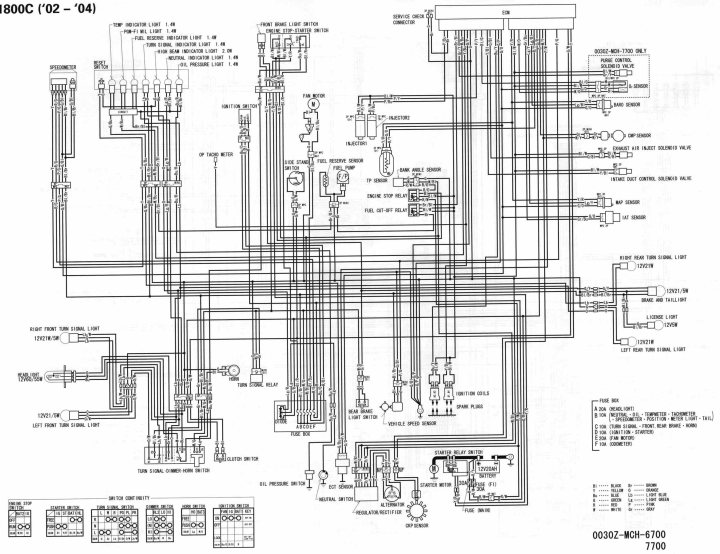 motorcycle honda chopper wiring block and schematic diagrams