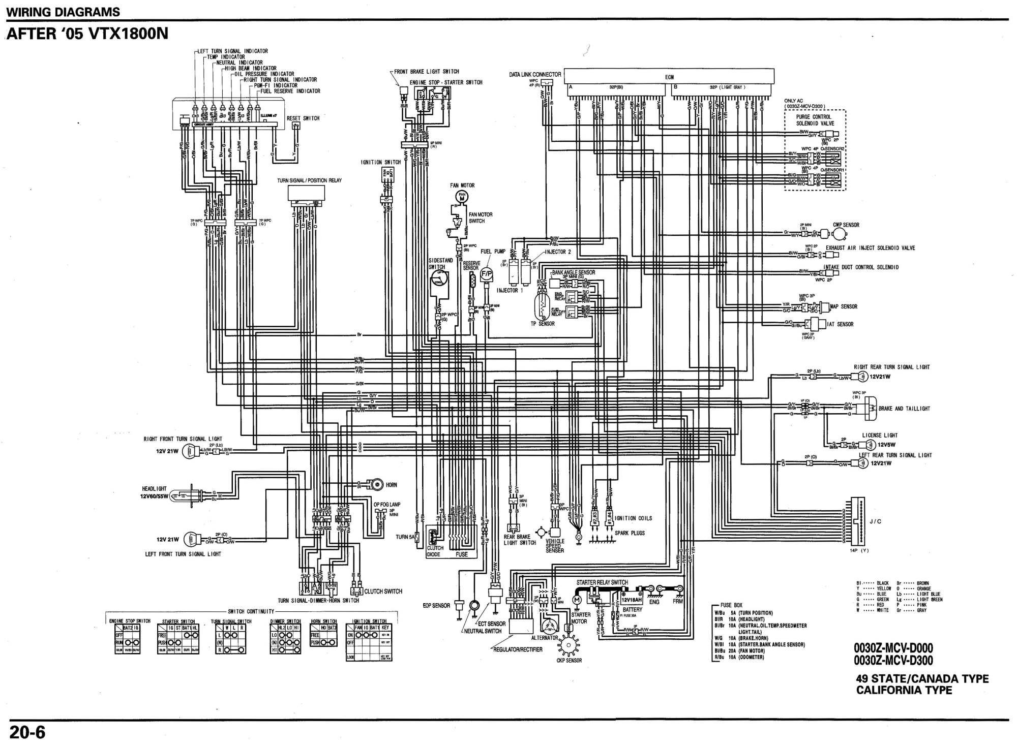 hight resolution of 06 vtx 1800n schematic motorcycle
