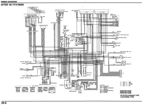 small resolution of 06 vtx 1800n schematic motorcycle