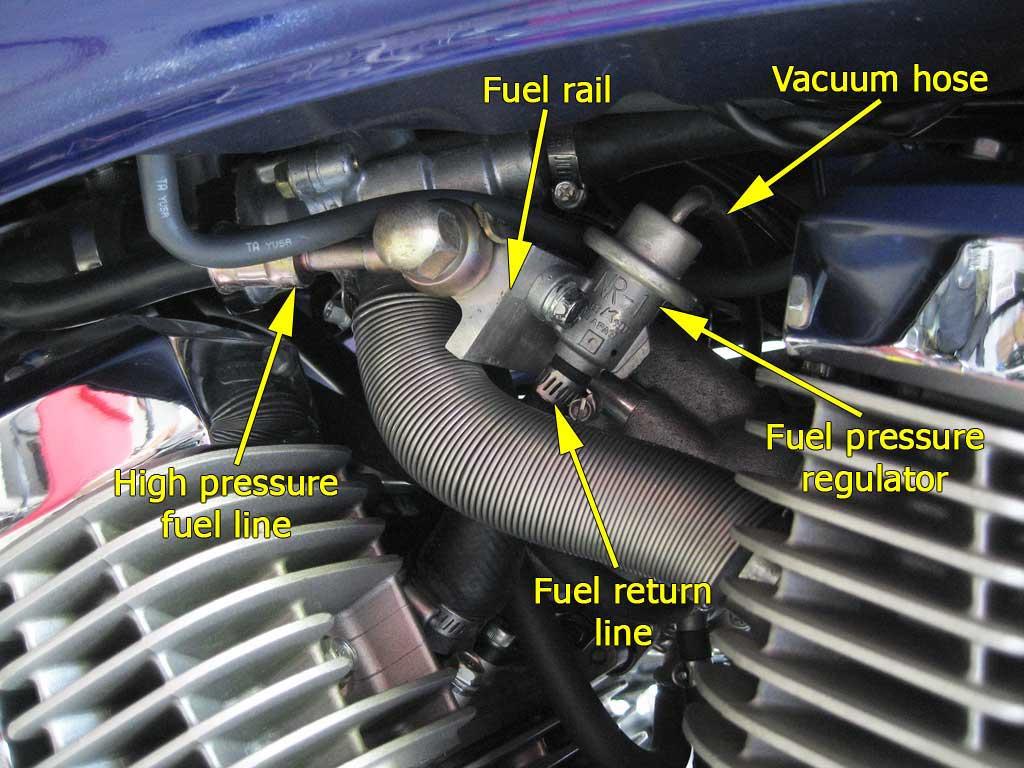 honda fuel filter location