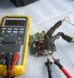 this is the setup required to check the amplifier for proper signal from the radio connect a voltmeter set on low ac voltage to terminals c and d with the  [ 2048 x 1536 Pixel ]