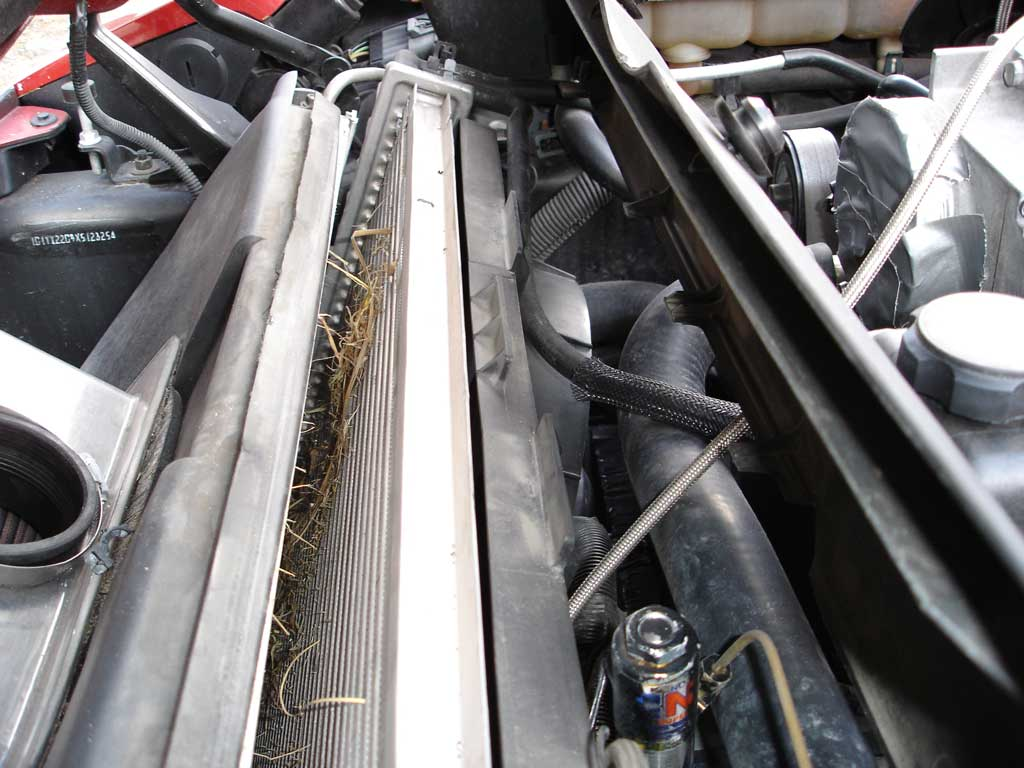 hight resolution of removing the radiator cover is simple and allows better access to radiator and a c condenser cover is affixed with two 10 millimeter hex head bolts on each