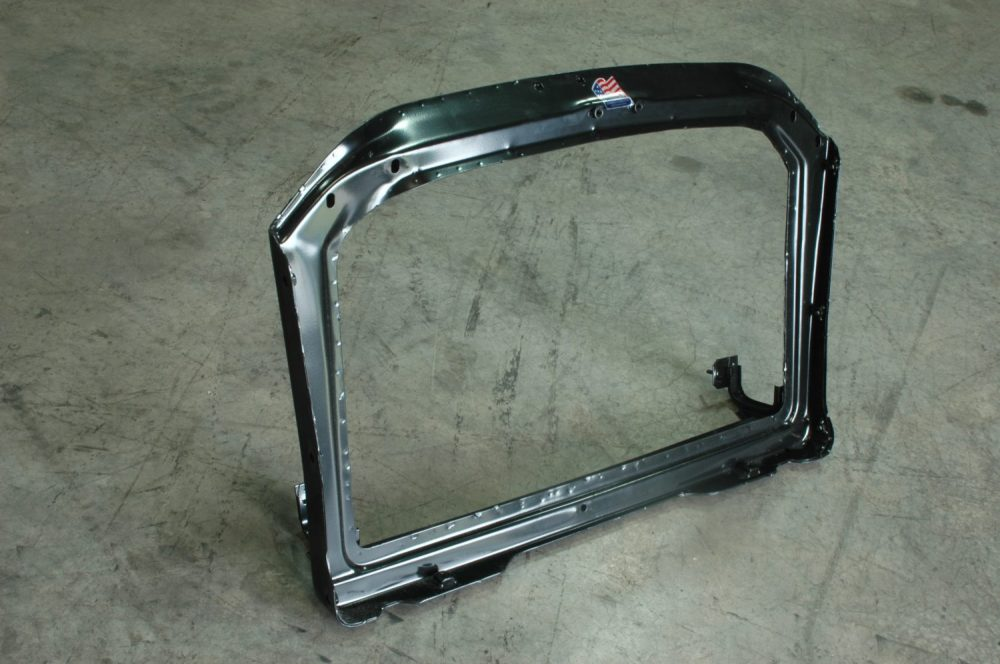 medium resolution of much better the new radiator core support sourced from corvette central available in more than one size we chose the big block core support to hold the