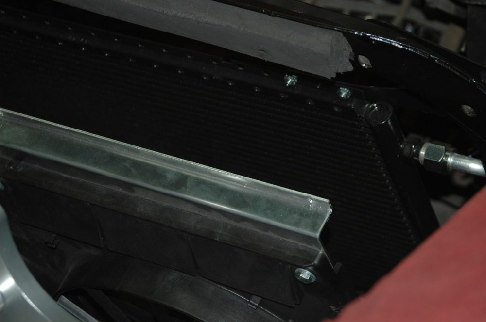 medium resolution of due to the space constraints of putting in the radiator with the engine already in place we have to remove the fans from the radiator and lay them loosely