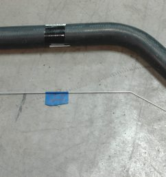the lower radiator hose since there is no factory option for an ls installed in a 72 stingray we usd a piece of bent wire approximating the path and  [ 3008 x 2000 Pixel ]