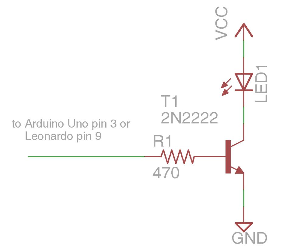 medium resolution of npn transistor driving ir led