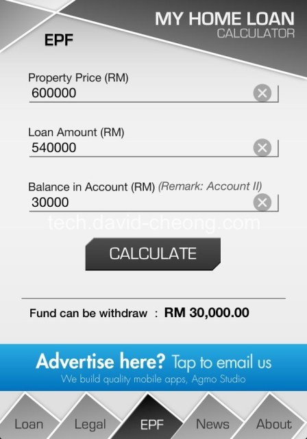 My Home Loan Calculator -  EPF