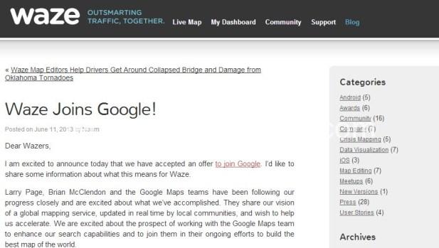 Waze join Google