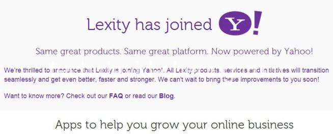 Lexity join yahoo notice