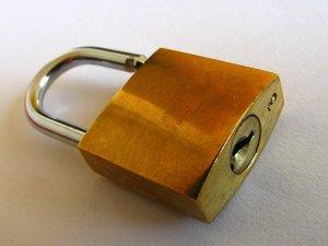 photograph of a padlock