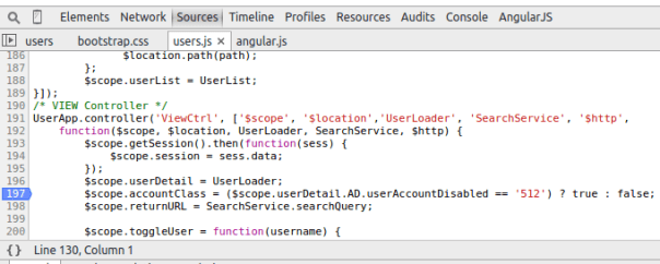 JavaScript Developer Tools Breakpoint