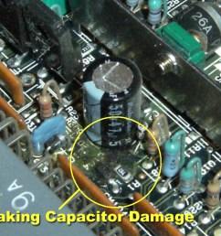leaking capacitor on a mitsubishi ecu board [ 1024 x 768 Pixel ]
