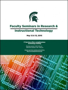 faculty seminars brochure cover spring 2015