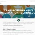 Screen capture of the MSU Bolder IT website