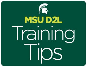 MSU D2L Training Tips graphic