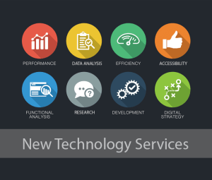 new technology services icons