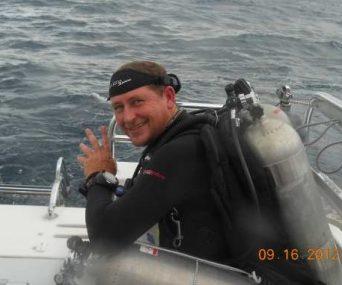Tec Diver Marc ready to dive!