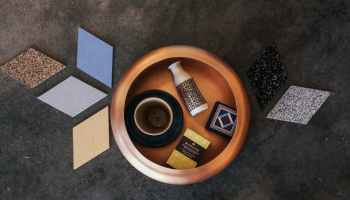 ceramic tiles and bowl in art pottery