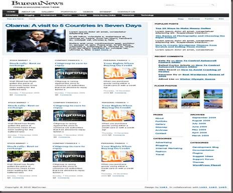 Bureau News WordPress Theme