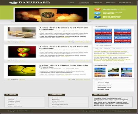 Dashboard WordPress Theme