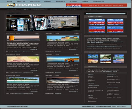 Framed Magazine WordPress Theme