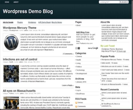 Mercury WordPress Theme