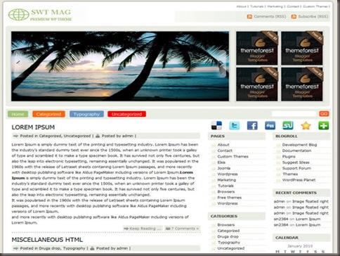 SWT Mag WordPress Theme