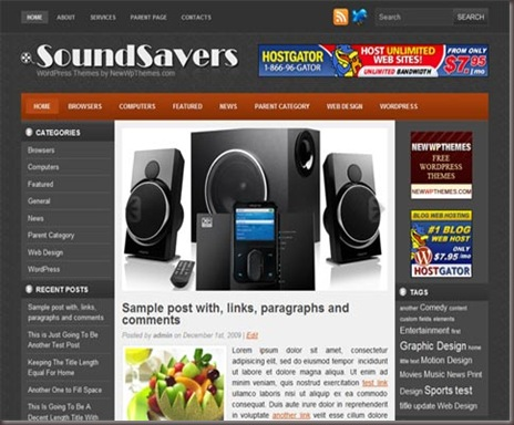 Soundsavers WordPress Theme