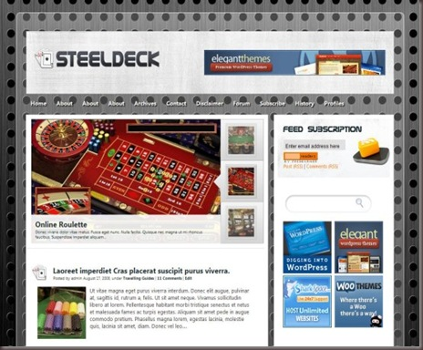 Steel Deck WordPress Theme